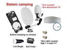 Sistem TV Satelit camping fara receptor