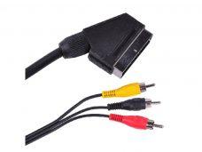 Cablu scart la 3RCA